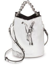 Kendall + Kylie - Metallic Bucket Bag - Lyst