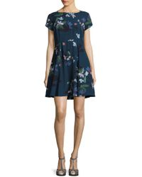 French Connection - Olivie Floral Fit-&-flare Dress - Lyst