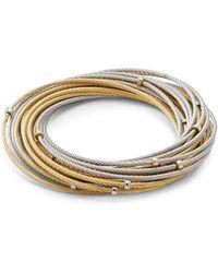 Alor - Classique 18k Gold & Stainless Steel Multi-strand Bracelet - Lyst