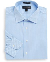 Saks Fifth Avenue - Slim-fit Gingham-print Cotton Dress Shirt - Lyst