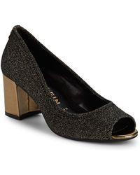 Anne Klein - Meredith Lurex Peephole Court Shoes - Lyst