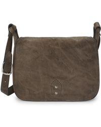 Frye - Veronica Buckle Leather Messenger Bag - Lyst