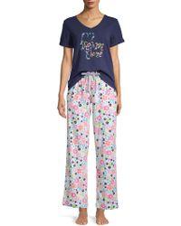 Jane And Bleecker - 2-piece Printed Pyjama Set - Lyst