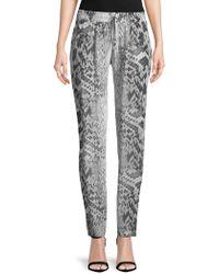 Melissa Odabash - Python-print Silk Trousers - Lyst