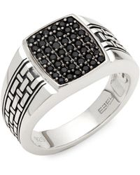 Effy - Black Sapphire & Sterling Silver Ring - Lyst