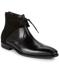 Mezlan - 18686 Tie Front Leather Chelsea Boots - Lyst