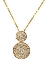 Effy - Trio 14k Yellow Gold And Diamond Pendant Necklace - Lyst