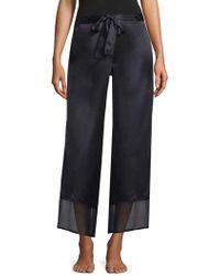 Natori - Silk Chiffon Trousers - Lyst