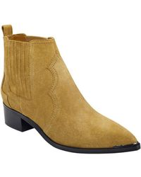 Marc Fisher - Yohani Leather Booties - Lyst