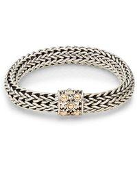 John Hardy - Dot Sterling Silver & 18k Yellow Gold Braid Bracelet - Lyst
