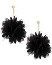 Natasha Couture - Crystal Textured Floral Drop Earrings - Lyst