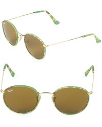 Ray-Ban - 50mm Round Metal Sunglasses - Lyst
