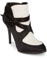 Tod's - Strappy Calf Hair Boots - Lyst