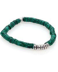 Tateossian - Malachite & Sterling Silver Bamboo Bracelet - Lyst