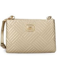Love Moschino - Metallic Quilted Crossbody Bag - Lyst