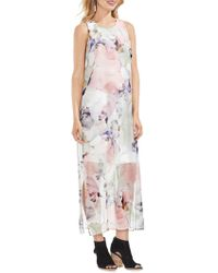 Vince Camuto - Diffused Floral Maxi Dress - Lyst