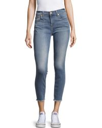 7 For All Mankind | Cropped-leg Denim Pants | Lyst
