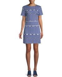 Trina By Trina Turk - Zap Printed Shift Dress - Lyst