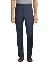 Saks Fifth Avenue - Mini Windowpane Wool Pants - Lyst