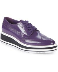 27f864e441a Lyst - Prada Oxford Espadrille Flatform Sneakers
