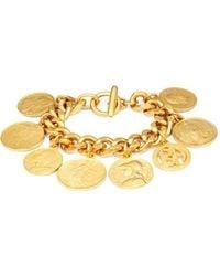Ben-Amun | Goldtone Coin Charm Bracelet | Lyst
