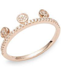 Ron Hami - Dot Diamond & 14k Rose Gold Tiara Ring - Lyst