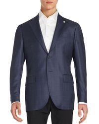 Lubiam - Checked Wool Blazer - Lyst