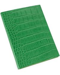 Graphic Image - Crocodile-embossed Leather Journal - Lyst