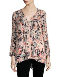 French Connection - Delphine Crepe Floral Top - Lyst