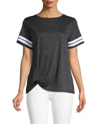 C&C California - Striped Knot-front T-shirt - Lyst