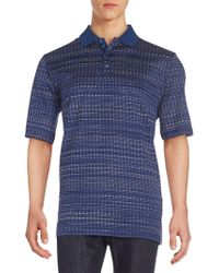 Bugatchi - Abstract-print Polo Shirt - Lyst