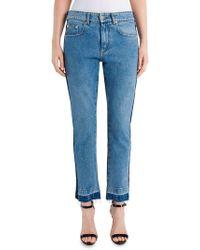 MSGM - Two-tone Cotton Denim Jeans - Lyst