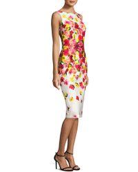 David Meister | Sleeveless Ombre Floral Sheath Dress | Lyst