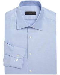 Ike Behar Micro Striped Shirt - Blue