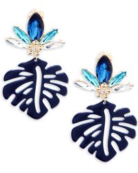 Natasha Couture - Leaf Drop Earrings - Lyst