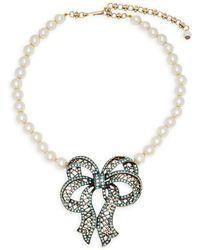 Heidi Daus - 4.5mm White Akoya Pearl And Swarovski Crystal Necklace - Lyst