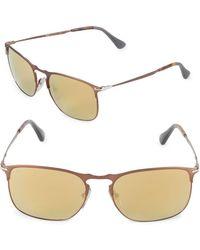 0910bacc83 Lyst - Chloé Ce114s Light Gold-tone Xl Round Sunglasses