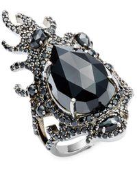 Bavna - Black Spinel & Sterling Silver Ring - Lyst