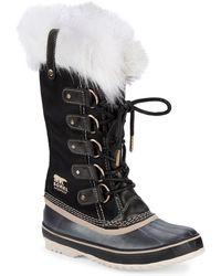 Sorel - Joan Of Arctic Faux Fur Trimmed Waterproof Boots - Lyst