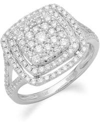 Effy - Pavé Classica Diamond And 14k White Gold Ring - Lyst
