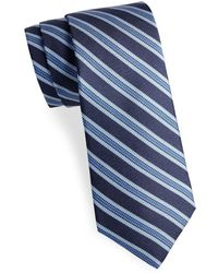 Saks Fifth Avenue - Striped Cotton Tie - Lyst