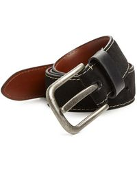 Saks Fifth Avenue - Solid Suede Belt - Lyst