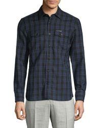 68bddb9f Burberry Brit Barnes Gingham Cotton Shirt in Blue for Men - Lyst