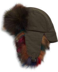 Annabelle New York - Multicolor Dyed Fox Fur Trapper - Lyst