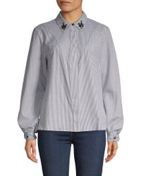 Laundry by Shelli Segal - Candy Stripe Button-down Shirt - Lyst