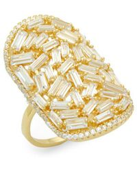 Saks Fifth Avenue - Crystal And Sterling Silver Statement Ring - Lyst