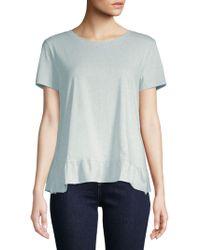 Saks Fifth Avenue - Ruffle Hem Short-sleeve Cotton Top - Lyst