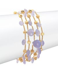 Marco Bicego - Paradise Chalcedony & 18k Yellow Gold Five-strand Bracelet - Lyst