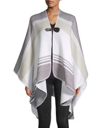 Vince Camuto - Striped Buckle Cape Ruana - Lyst