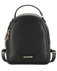 Love Moschino Minimalist Logo Backpack